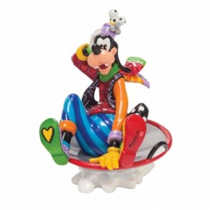Goofy in Disc Sled Figurine
