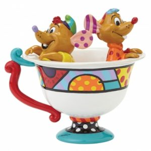 Jaq & Gus in Tea Cup Figurine