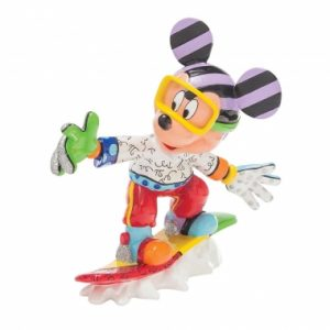 Snowboarding Mickey Mouse Figurine